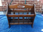 A solid wooden newspaper rack that I found at Bygone Times.