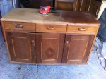 This dresser has a back/top that I found at the Lincolnshire Showground.
