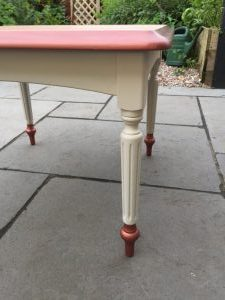 Table with Copper Highlights